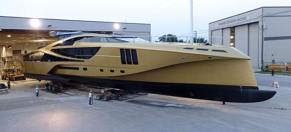 Luxury Charter Yacht Palmer Johnson Yachts Golden 48M SuperSport EXtravaganzi