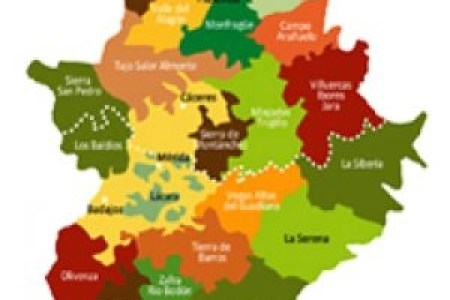 Mapa De Extremadura Comarcas.Turismo Extremadura Comarcas