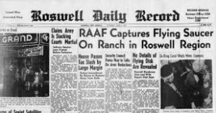 1947, IL GIORNALE DI ROSWELL PARLA DELLO SCHIANTO DI UN UFO