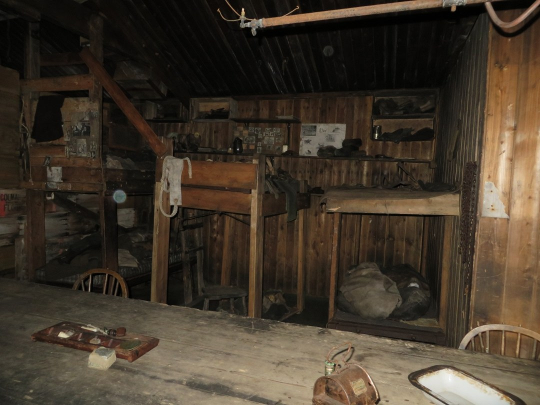 Tenements in the Cape Evans hut which housed Cherry-Garrard, Birdie Bowers, Meares and others