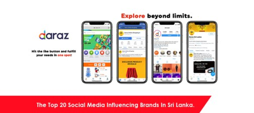 the top 20 social media influencing brands in sri lanka.
