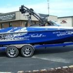 Wakeboarding boat audio