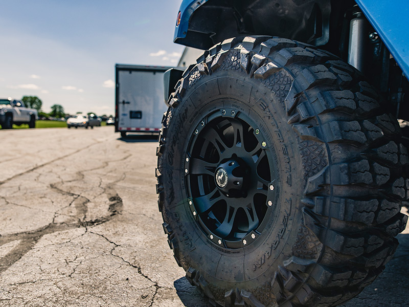 2014 Jeep Wrangler 16x8 Raceline Nitto LT31575R16