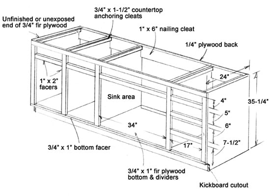 plans base kitchen cabinets