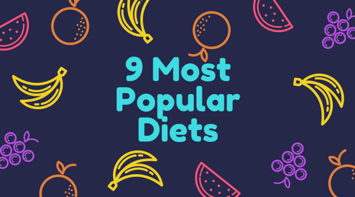 9 most popular diets