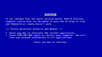 US Army BSOD