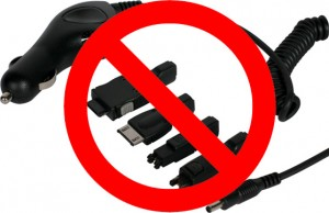 Many different smartphone chargers... BEGONE!