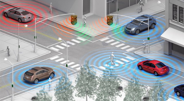GM WiFi Direct pedestrian/intersection detection (V2V, V2I)