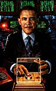 Obama, with his kill switch (credit: unknown)