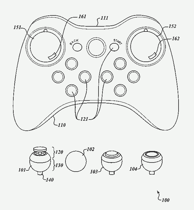 Valve's patented module game controller