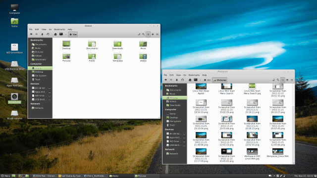 Linux Mint 14 Nemo File Browser