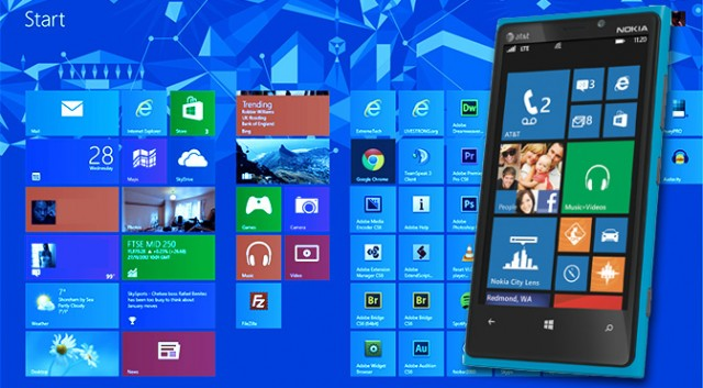 Windows 8 and Windows Phone 8... Blue