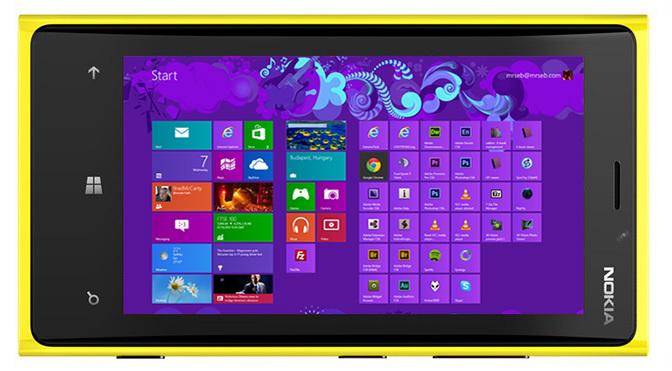 Nokia Lumia 920, running Windows 8