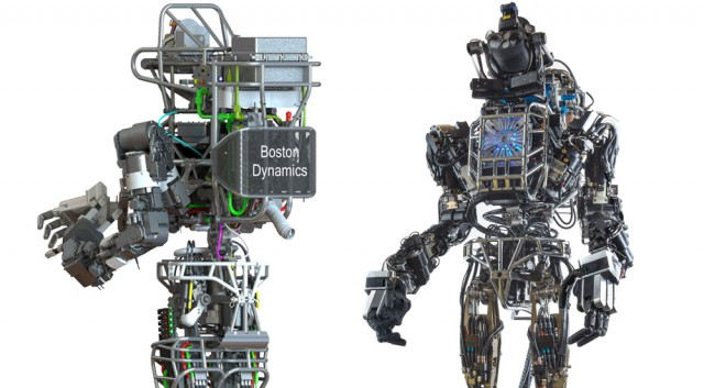 Atlas robot, front and back