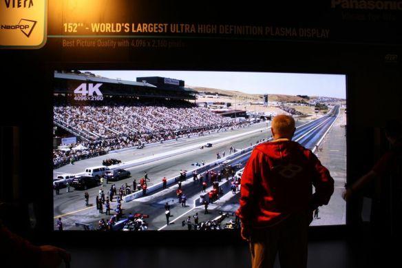 152-inch Panasonic plasma TV