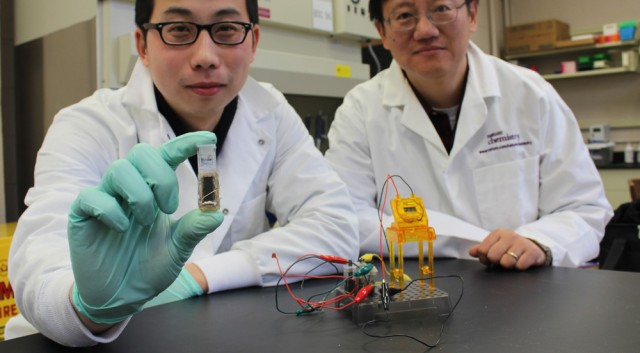 Zhang's glucose-powered enzymatic fuel cell (Virginia Tech)