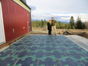 The only actual real-world Solar Roadways prototype: A small parking lot