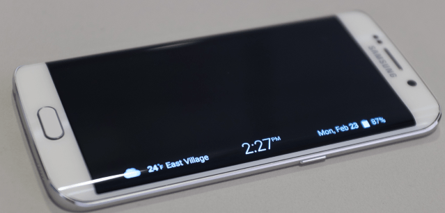 The Galaxy S6's Edge (image by The Verge)