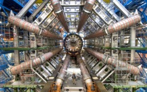 The (a) mouth of the Large Hadron Collider.