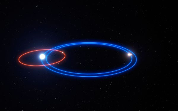 First direct images of a gas giant exoplanet in a triple