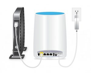 One nice feature of the Orbi is the additional wired Ethernet jacks