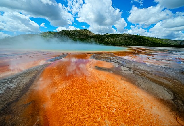 Grand Prismatic at Yellowstone post-processed with Photoshop -- photo by David Cardinal