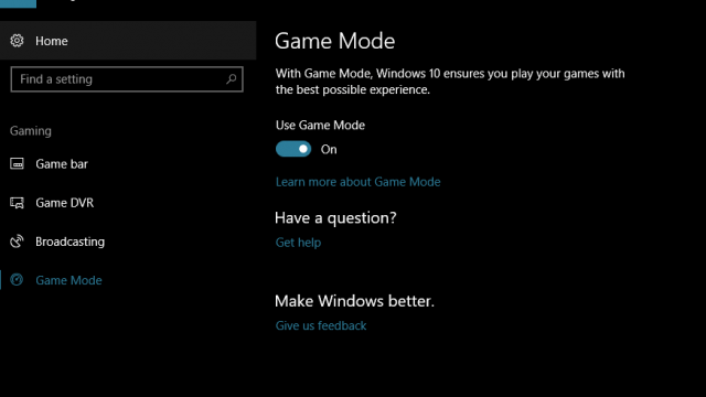 windows 10 to games