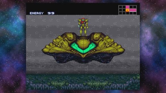 SNES Classic Hacked to Add Games and Visual Effects   ExtremeTech Metroid in a 4 3 aspect ratio with borders on the sides