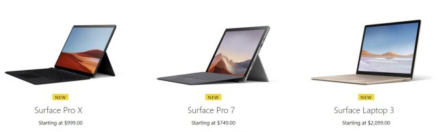 Microsoft is really covering the ultra-light portable market waterfront with an array of new Surface models including these three variations.