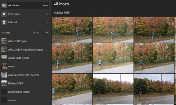 Adobe provides a powerful web interface for your mobile images and those you have chosen to sync from your desktop
