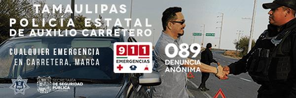 En Tamaulipas Policía Estatal de Auxilio carretero