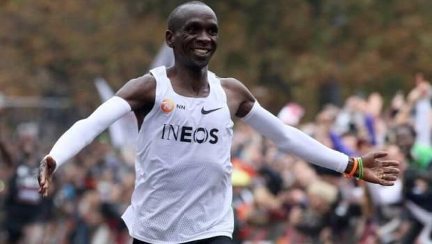 Eliud Kipchoge, primer atleta en correr un maratón en menos de dos horas