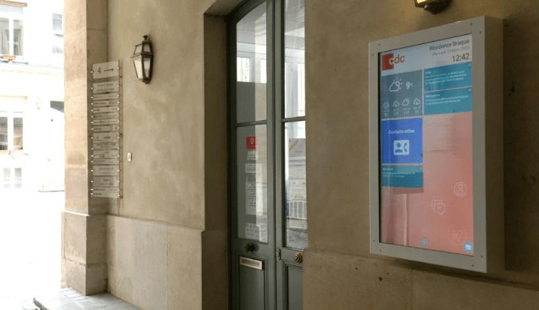 nouveau écran hall digital