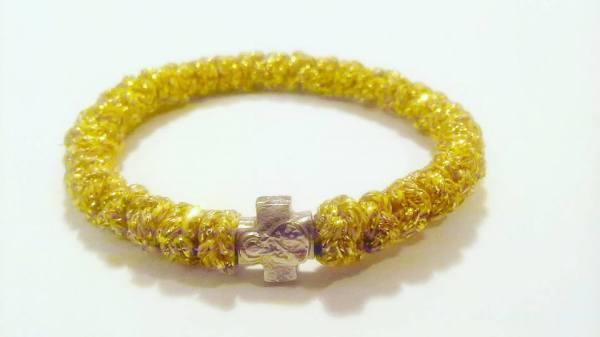 Gold Prayer Rope Bracelet