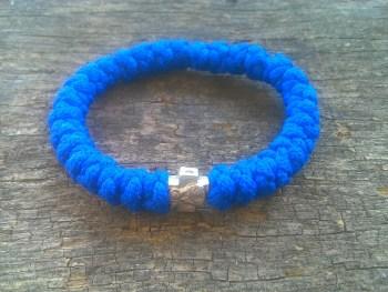 Handmade orthodox blue prayer rope bracelet