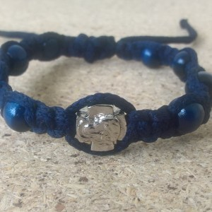 Handmade christian blue navy prayer ropes, beads bracelet