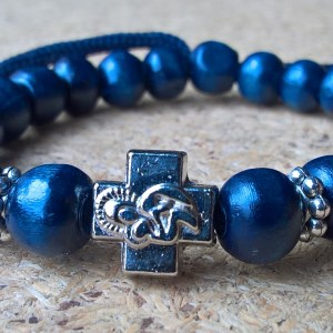 Blue Navy Prayer Beads Bracelet