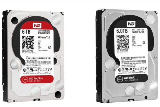 Western Digital Red Pro & Black 6TB