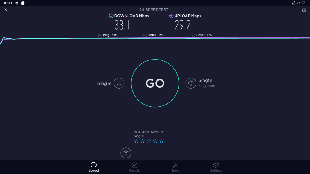 ugoos,AM6 Plus,plus,am6,streamer,review,android,kodi,amlogic,s922-xj,speedtest,wired,LAN,network,over,powerlines,speed
