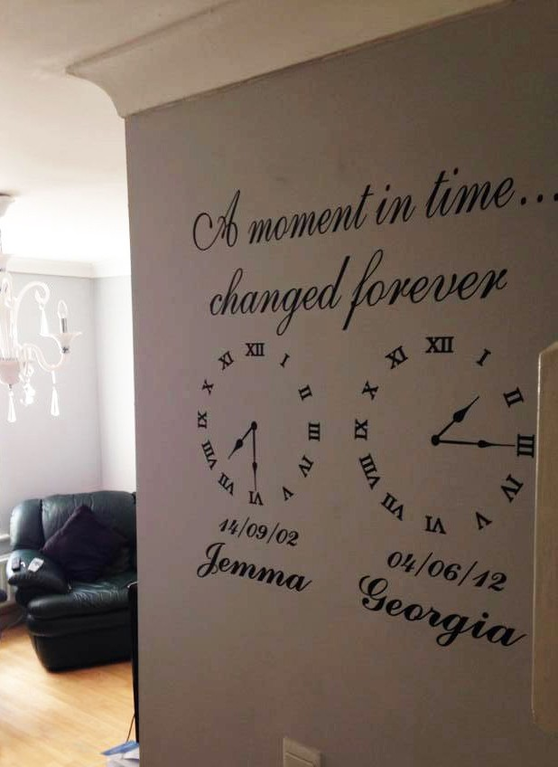 Wall Art Decal Memory Clocks A Moment In Time Clock