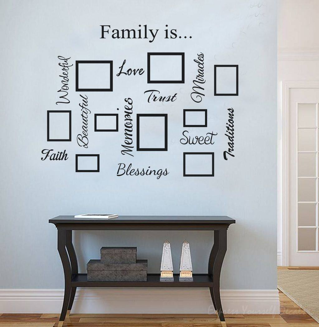 Photo Frame Amp Family Quote Word Collage