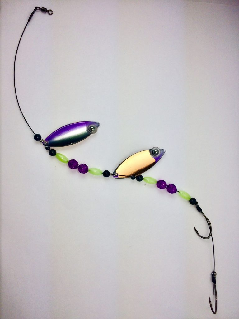 Iris Glow Double Blade Wire Harness With Copper Backing Eye Fish