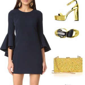 Milly Dress and Clutch Stella McCartney Sandals