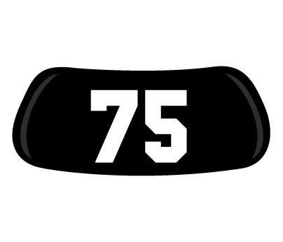 Number #75 Original EyeBlack - Numbers