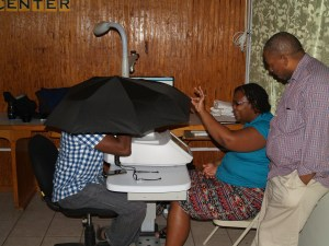 Screeners from Dominica and St. Lucia trained at Eye Care St Lucia in Castries