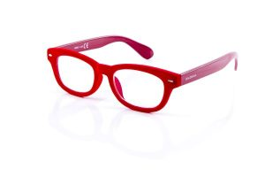 double ice red velvet reading glasses