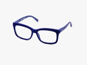 Ddoubleice bloom iris blue velvet reading glasses