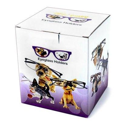 d64d761d07b Dog Eyeglass Holder Box. Tan Pug Eyeglass Holder with Glasses ...
