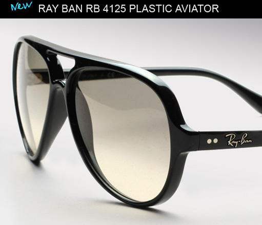 Ray Ban RB 4125 aviator sunglasses