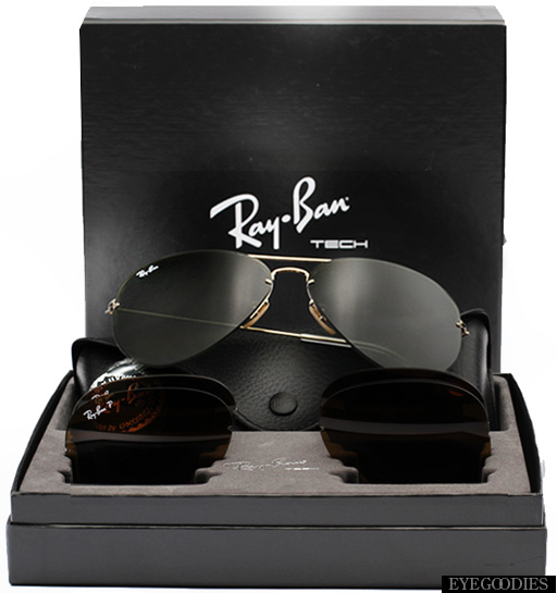 Ray Ban Aviator Flip Out Sunglasses